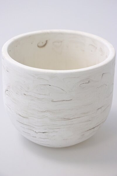 Handmade Beton Saksı 13 cm Model-6 Taş Rengi