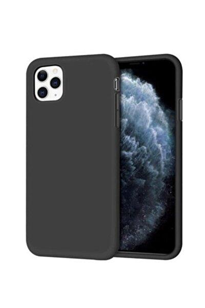 """Iphone 11 Pro 5.8"""" Içi Kadife Lansman Silikon Kılıf Siyah"""