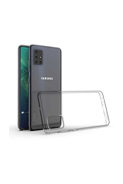 Samsung A51 Şeffaf Süper Silikon Kapak Darbe Emici Özellikli Kılıf