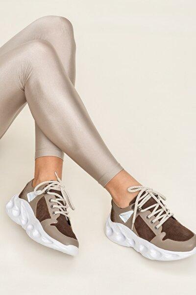 JERALD Hakiki Deri Vizon Kadın Ayakkabı
