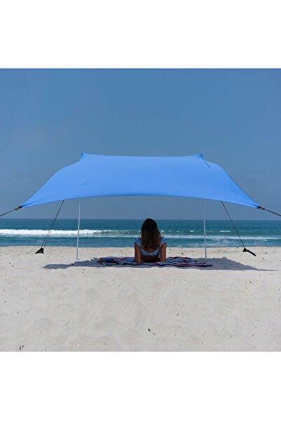 Zelt 2,4 Metre Gölgelik Tente Plaj Şemsiyesi Bahçe Teras Çardak Kamp Piknik Güneşlik Şemsiye