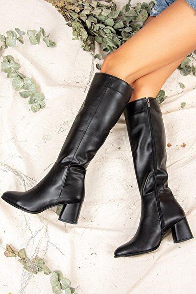 Farangiz Siyah Cilt Çizme