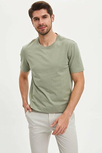 Erkek Yeşil Basic Kısa Kollu T-Shirt