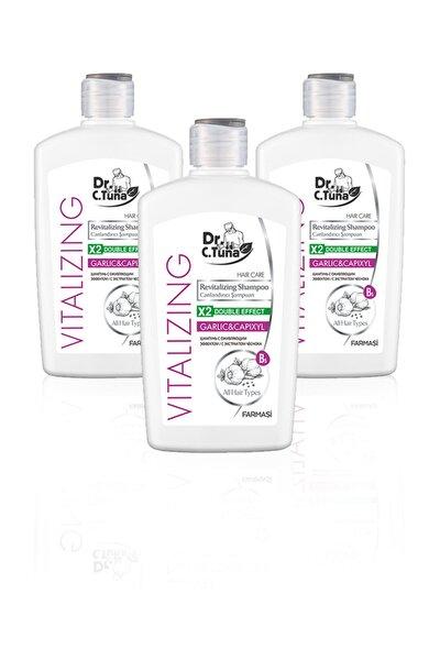 Dr. C. Tuna Vitalizing Tüm Saçlar Için Canlandırıcı Sarımsaklı Şampuan-500ml 3'lü Set