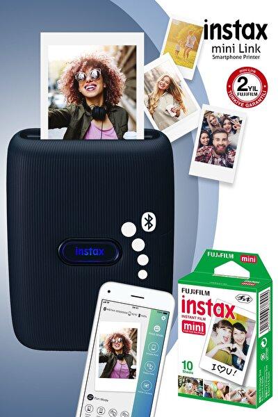 Instax mini Link Mavi Akıllı Telefon Yazıcısı ve 10'lu mini Film