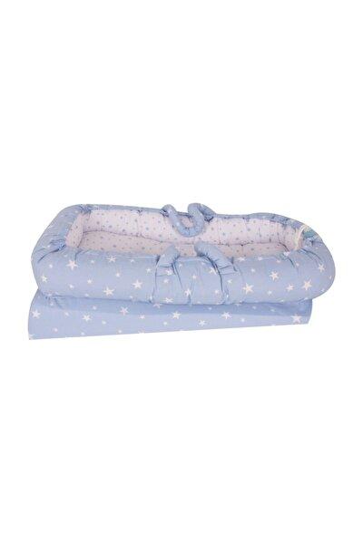 Anne Yanı Bebek Reflü Yatağı - Mavi Yıldız