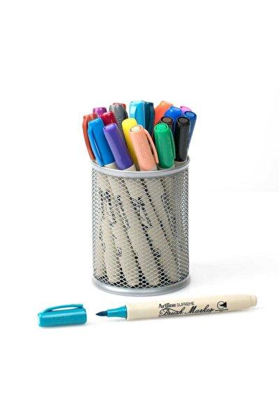 Supreme Brush Marker Fırça Uçlu Kalem 20 Renk Kalemlik Hediyeli Set