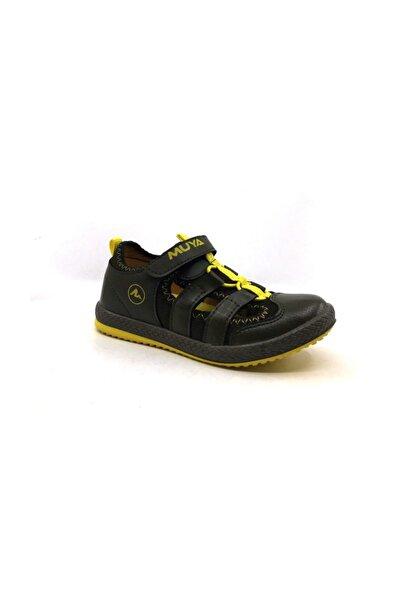 89043 212-haki-sarı  Erkek Çocuk Yazlık Sandalet Ayakkabı