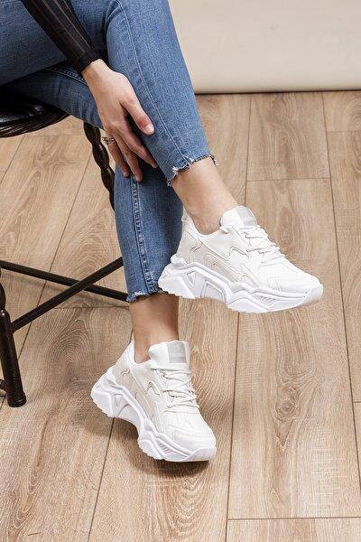 Beyaz Kadın Sneaker DNZ-1