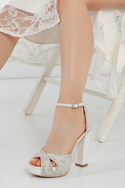 Sedef Inci Taş Kadın Abiye Ayakkabı 2011cnr