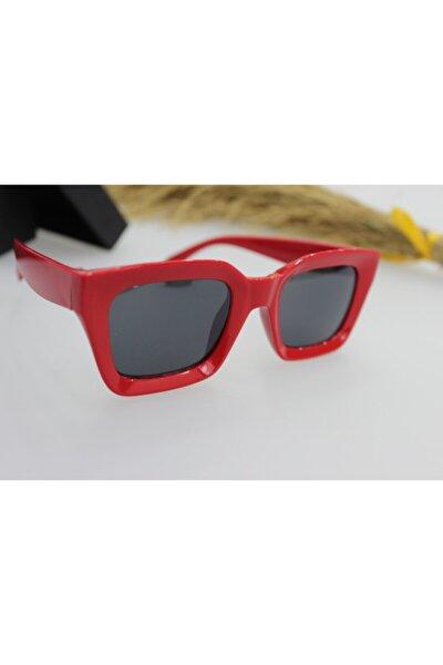 New Mia Kare Kadın Kırmızı Güneş Gözlüğü