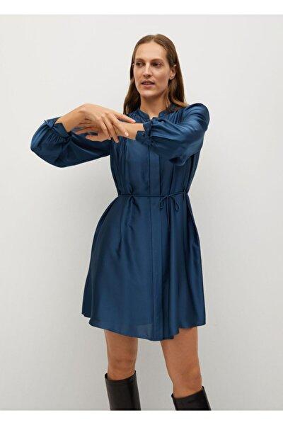 Kadın Pilili Saten Elbise