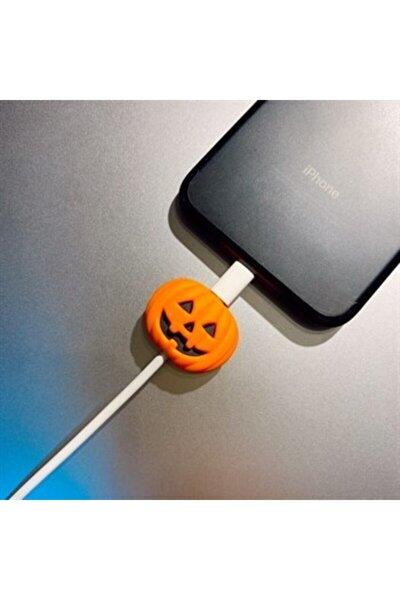 Sevimli Balkabağı Şarj Aletei Kablo Koruyucu