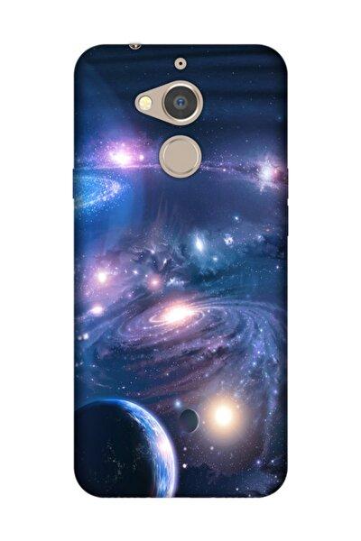 General Mobile Gm 8 Kılıf Desenli Resimli Hd Silikon Telefon Kabı Kapak - Uzay Boşluğu
