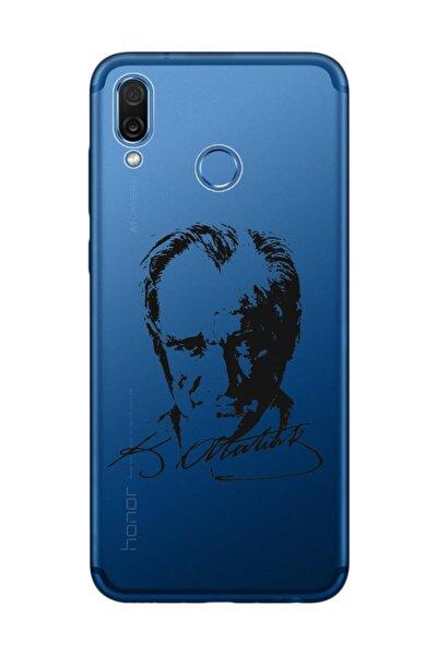 Huawei Honor Play Kılıf Desenli Resimli Hd Silikon Telefon Kabı Kapak - Atatürk