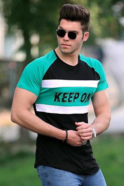 Erkek Siyah T-shirt - 3031