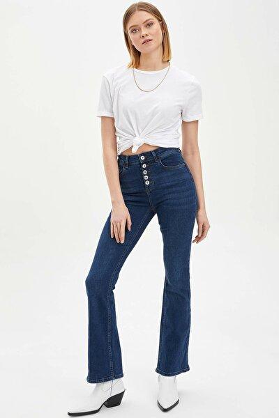 Kadın Mavi Mary Straight Fit Jean Pantolon L8104AZ.20SP.NM28