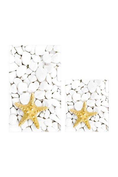 Dijital Yıldız 2 Li Banyo Paspas Seti Klozet Takımı 0035 01