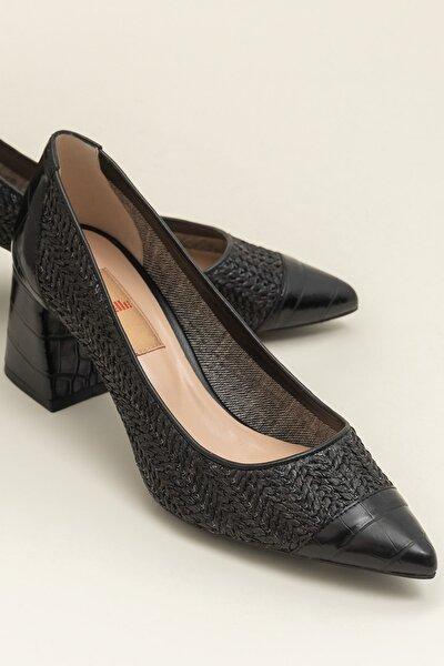 MARGERY-1 Hakiki Deri Siyah Kadın Ayakkabı