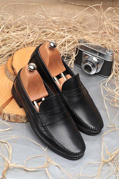 D10180 Günlük Klasik Hakiki Deri Erkek Ayakkabı