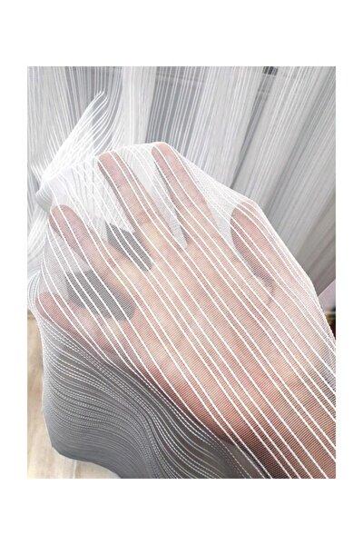 Zincir Ip Çizgili Modern Tül Perde 1 E 2,5 Pileli Et3001
