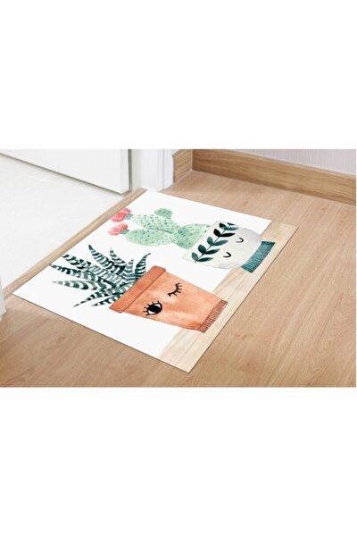Dijital Three Cactus   40x60 Banyo Paspası 0456 01