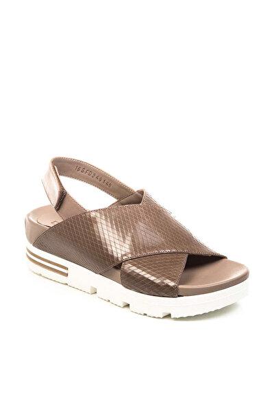 Hakiki Deri Vizon Kadın Sandalet