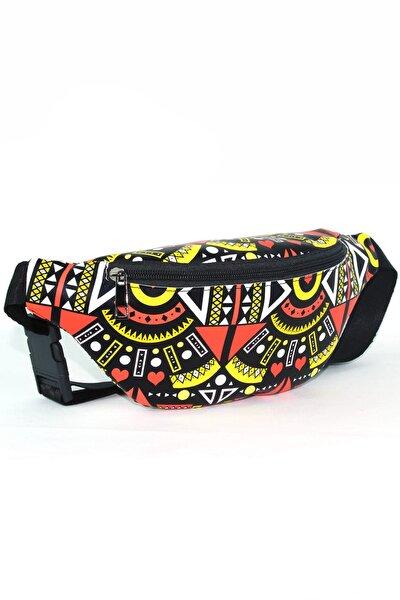 Siyah Çok Renkli Kadın Bel Çantası  139
