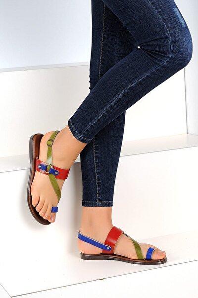 Hakiki Deri Multi Kadın Sandalet A1107-19