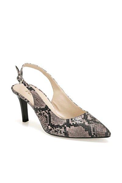 Ds19150 Yılan Rengi Pudra Kadın Ayakkabı 100443292