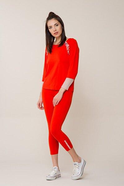 Kadın Pul Detaylı Narçiçeği Bluz M18Y2W00911YA