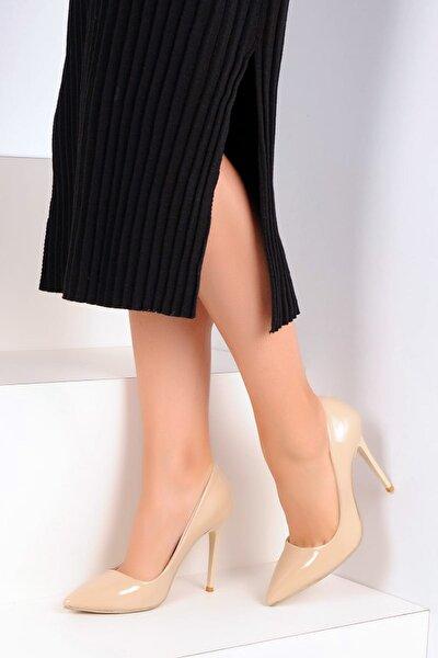 Bej Rugan Kadın Topuklu Ayakkabı A1770-17