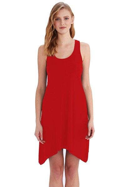 Kırmızı Kadın Elbise 59344