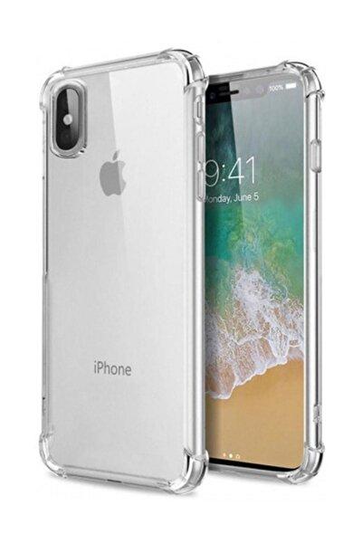 Zengin Çarşım Apple iPhone XS Max Ultra İnce Şeffaf Airbag  Silikon Kılıf - Ve Ekran Koruyucu