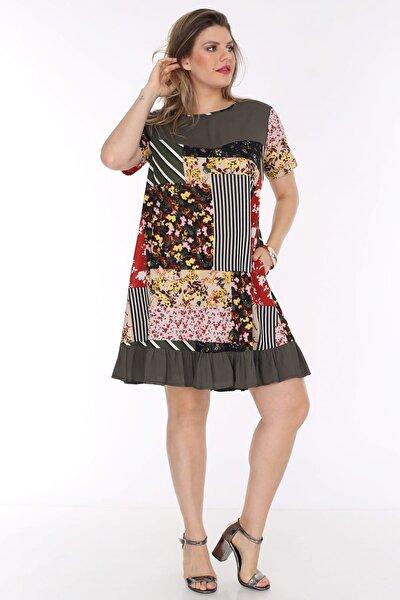 Kadın Haki Cepli Tunik Elbise 3282