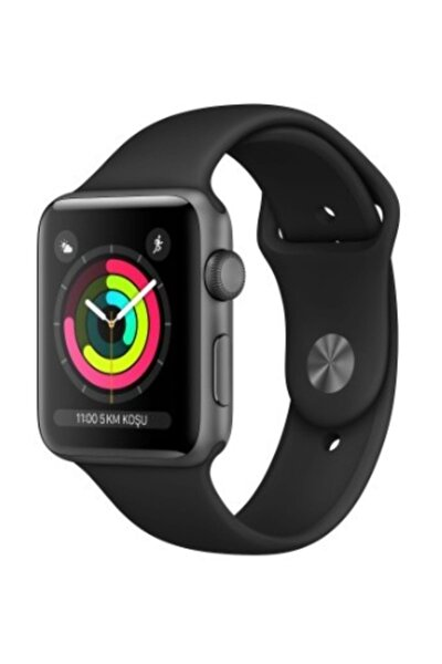 Watch Seri 3 GPS 38mm Space Grey Aluminium Case with Black Sport Band