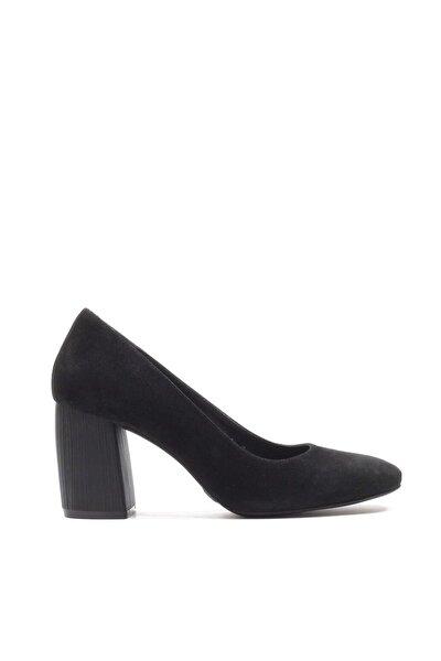 Hakiki Deri Siyah   Klasik Topuklu Ayakkabı 01AYH146900A105