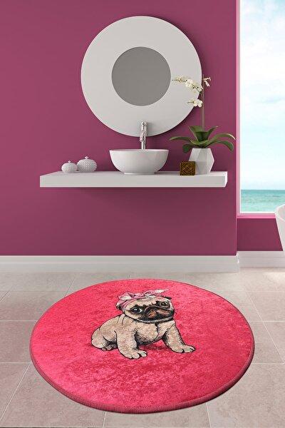 PINK PUG DJT ÇAP 100 cm Banyo Halısı