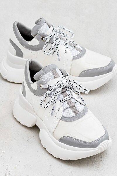 UDELA Beyaz Kadın Ayakkabı