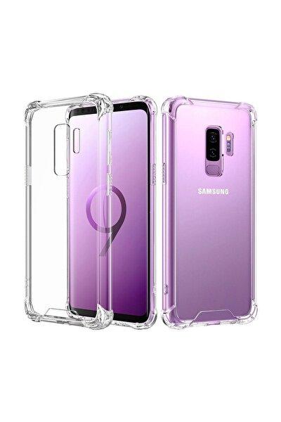 Zengin Çarşım Samsung Galaxy S9 Plus Ultra İnce Şeffaf Airbag Anti Şok Silikon Kılıf - Şeffaf