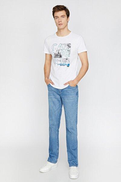 Erkek Mavi Normal Kesim Jean Pantolon 0KAM45031LD