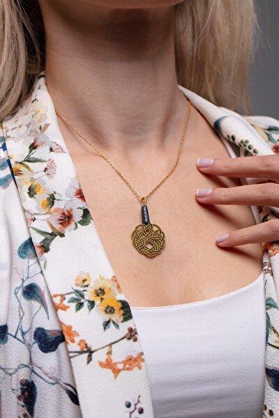 Düğüm Model Altın Kaplama Gümüş Kazaziye Kolye
