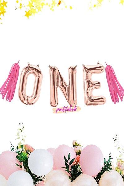 Rose Gold One 1 Yaş Balon Seti Pembe