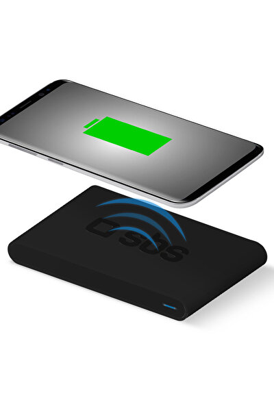 Hızlı Şarj Kablosuz Masaüstü Şarj Cihazı Siyah
