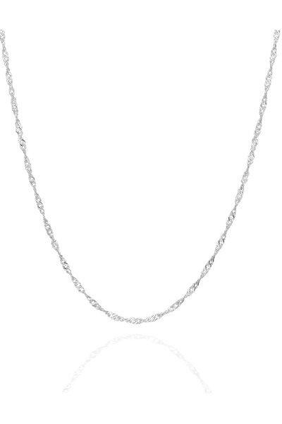 Kadın Singapur Modeli 45 CM Gümüş Zincir İZLASLVR00594