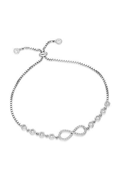 925 Ayar Asansörlü Sonsuzluk Bileklik Kadın Gümüş Bileklik TXE8B92BA13581