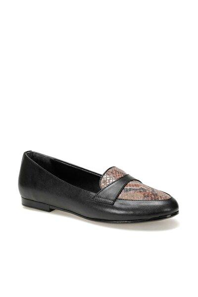 DW19083 Siyah Kadın Loafer Ayakkabı 100440363
