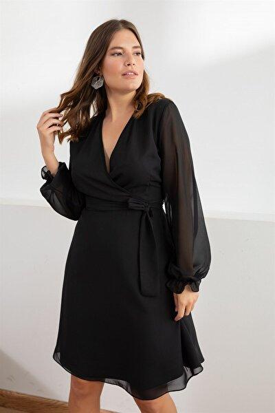 Kadın Siyah Misty Anvelop Elbise fw01965eb