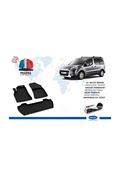 Peugeot Partner 2 Tepee 4D Paspas Siyah 2008-2018 Arası