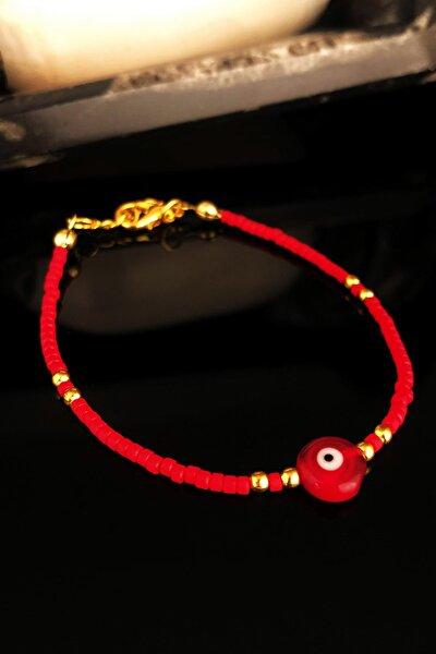 Doğaltaş Kadın Mercan Taşı Altın Kaplama Bileklik KRB417